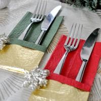 カトラリーポケットの作り方 ~ クリスマスを和紙で飾る ~