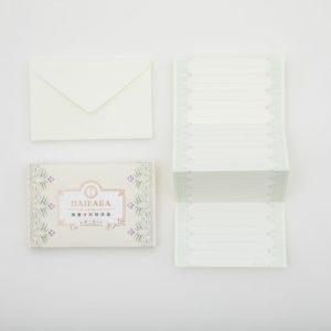 横書き蛇腹便箋レターセット 「勿忘草(わすれなぐさ)」