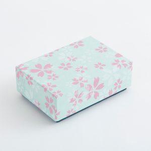 千代紙小箱 朝桜 水色