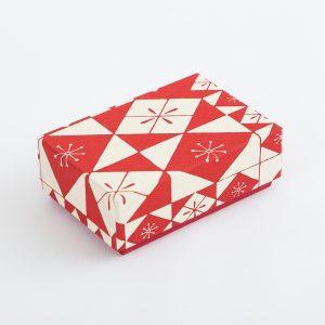 千代紙小箱 色硝子 赤
