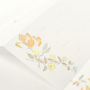 3周年記念限定パッケージ 蛇腹便箋 「花あそび」レターセット