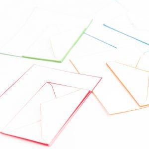 木版摺 色ふちレターセット